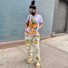 Load image into Gallery viewer, Hugcitar 2020 cartoon print high waits sweatpants autumn winter women fashion streetwear casual joggings trousers