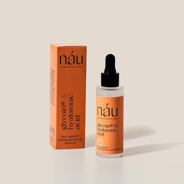 Regenerative Serum powered by Glycoin and Hyaluronic Acid 30mL | náu skin – Farm-to-Face Natural Skincare