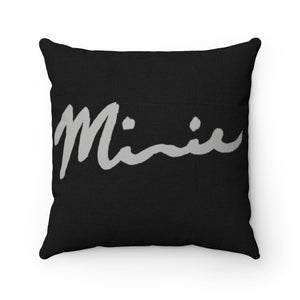 Minnie Signature Black Spun Polyester Square Pillow