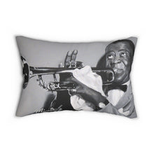 Load image into Gallery viewer, Louie Armstrong Spun Polyester Lumbar Pillow