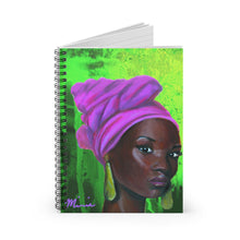 Load image into Gallery viewer, Aka notebook, pink and green notebook, aka colors, black art