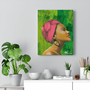 Pink and Green 1 Canvas