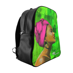 aka sorority,  aka back pack, pink and green bag, pink and green backpack, sorority