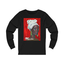 Load image into Gallery viewer, Red and White  1 Unisex Jersey Long Sleeve Tee