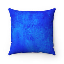 Load image into Gallery viewer, Blue Texture Spun Polyester Square Pillow