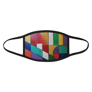 Abstract colors Mixed-Fabric Face Mask