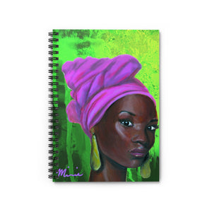 Aka notebook, pink and green notebook, aka colors, black art