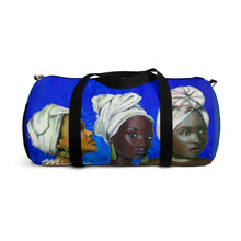 Load image into Gallery viewer, Blue and White Sisterhood Duffel Bag