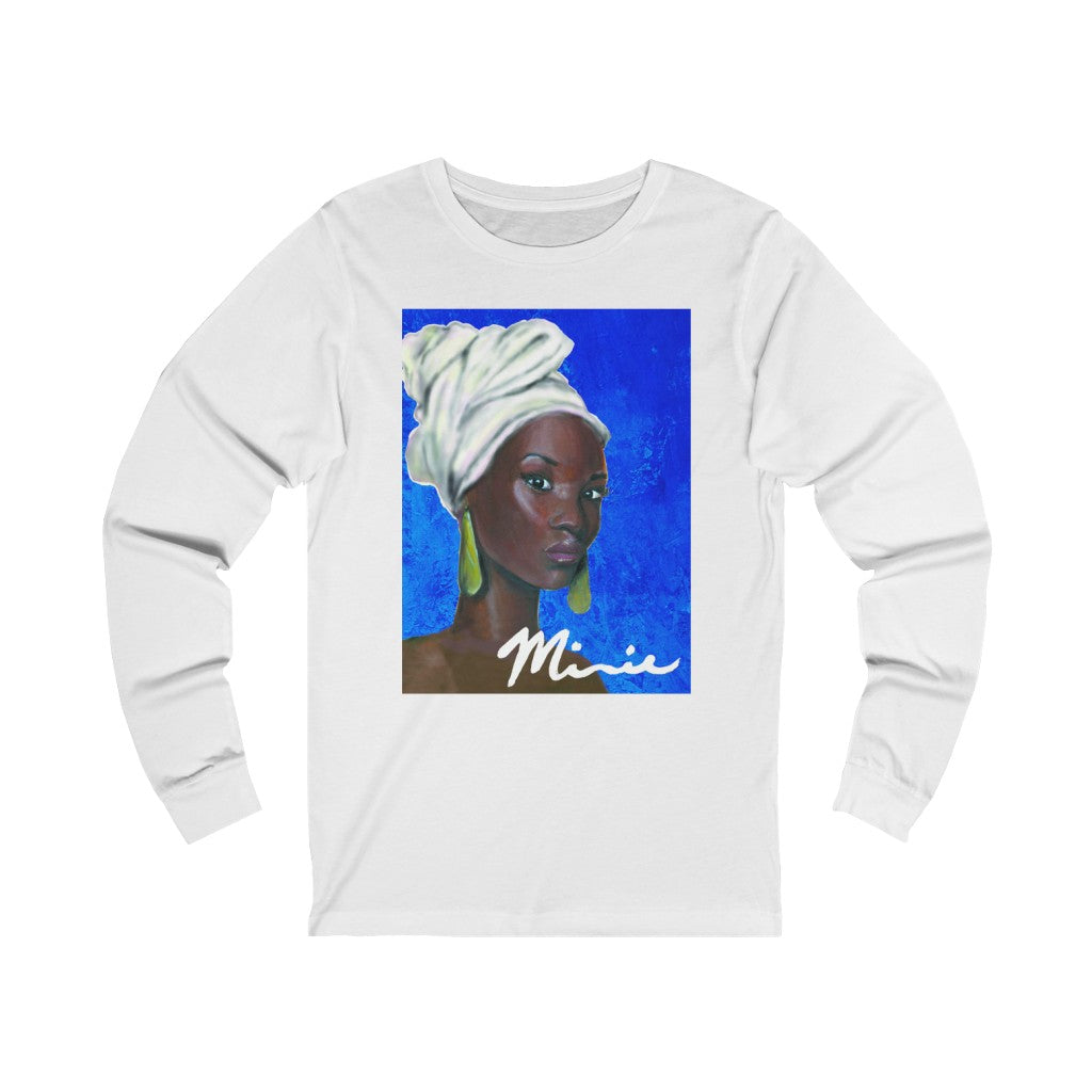 Blue and White  Unisex Jersey Long Sleeve Tee