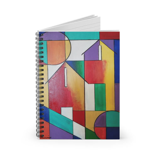 colorful  abstract notebook
