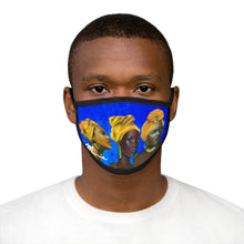 Load image into Gallery viewer, Blue and Gold Sisterhood  Mixed-Fabric Face Mask