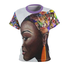 Load image into Gallery viewer, Afro Puff Women's AOP Cut & Sew Tee