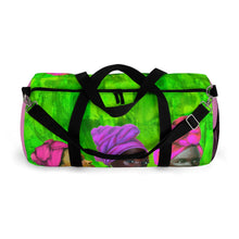 Load image into Gallery viewer, Pink  and Green Sisterhood Duffel Bag