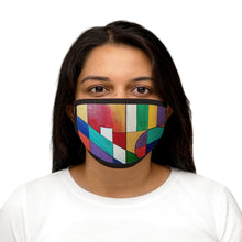 Load image into Gallery viewer, Abstract colors Mixed-Fabric Face Mask