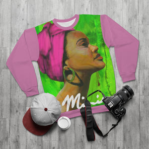 Pink and Green AOP Unisex Sweatshirt