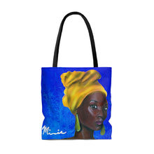 Load image into Gallery viewer, Blue and Gold Sisterhood Tote Bag