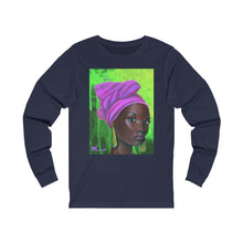 Load image into Gallery viewer, Pink and Green 3 Unisex Jersey Long Sleeve Tee