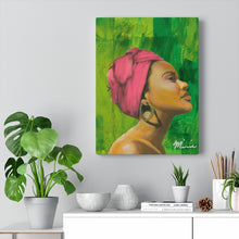 Load image into Gallery viewer, Pink and Green 1 Canvas