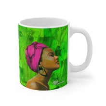 Load image into Gallery viewer, Aka mug, pimk and green mug, aka sorority
