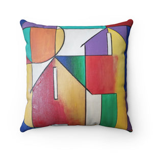 Abstract House Spun Polyester Square Pillow