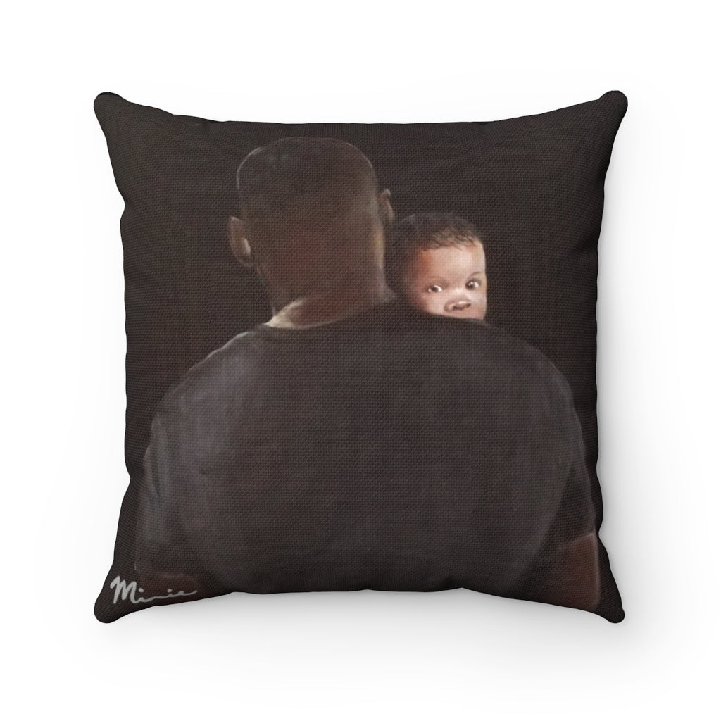 Daddy Protector Square Pillow