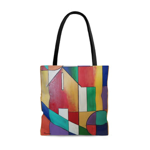 colorful  abstract  tote bag, abstract art,large totev bag