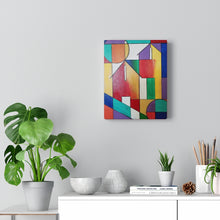Load image into Gallery viewer, abstract painting, colorful  abstract  art, abstract house,  canvas  print, abbstract  wall art, abstract