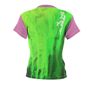 Pink and Green 2 Women's AOP Cut & Sew Tee