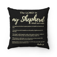 Load image into Gallery viewer, Psalm 23  Square Pillow