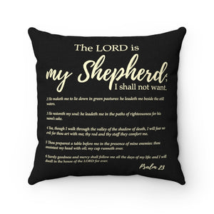 Psalm 23  Square Pillow