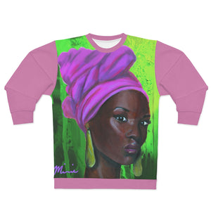 Pink and Green 3 AOP Unisex Sweatshirt