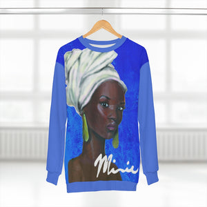 Blue and White AOP Unisex Sweatshirt