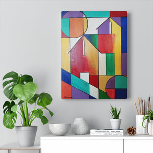 Abstract House Canvas Gallery Wraps