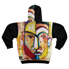 Load image into Gallery viewer, Absrat art hoodie, picasso hoodie, black art hoodie, black hoodie