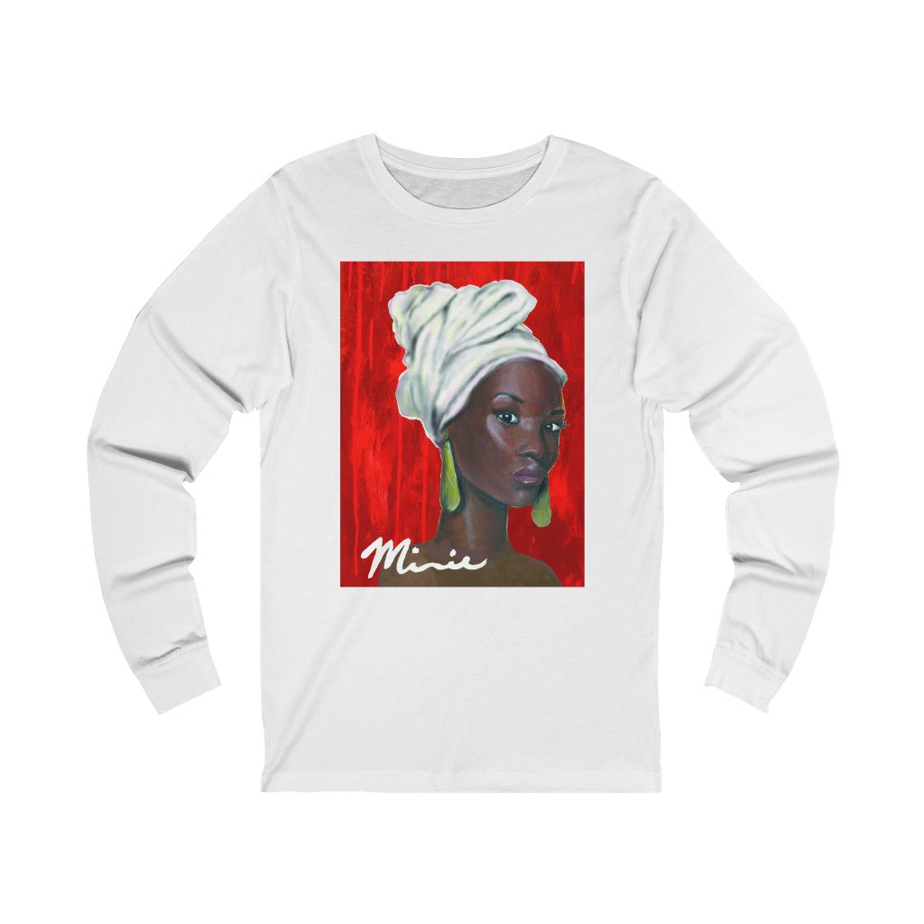 Red and White  1 Unisex Jersey Long Sleeve Tee