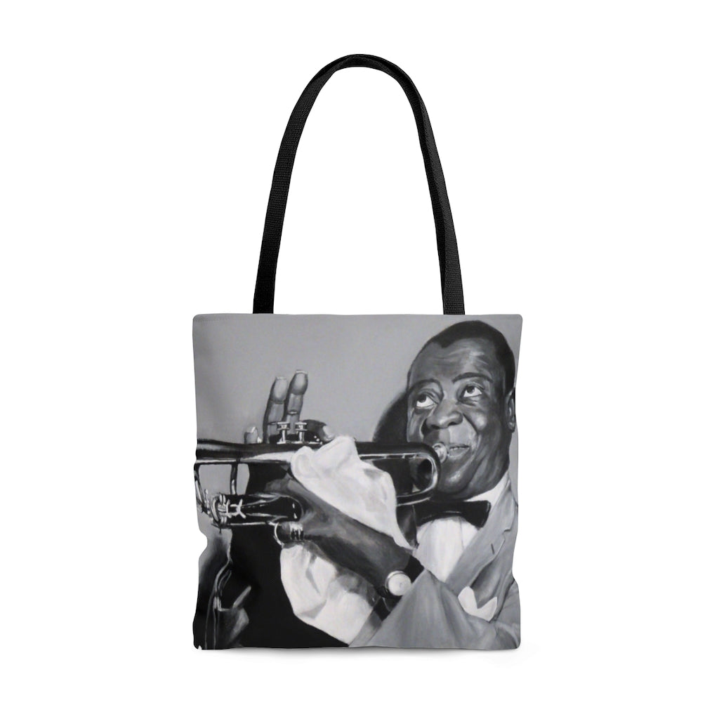 Louie Armstrong Tote Bag