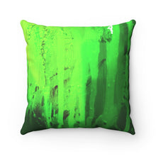 Load image into Gallery viewer, Green Streams Spun Polyester Square Pillow