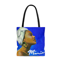 Load image into Gallery viewer, Blue and White Sisterhood Tote Bag