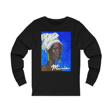 Load image into Gallery viewer, Blue and White  Unisex Jersey Long Sleeve Tee