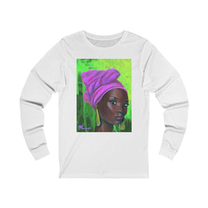 Pink and Green 3 Unisex Jersey Long Sleeve Tee