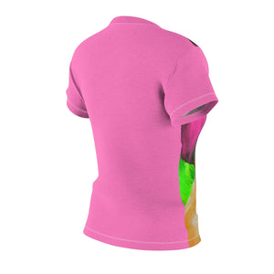 Pink and Green Women's AOP Cut & Sew Tee