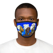 Load image into Gallery viewer, Blue and White Sisterhood Mixed-Fabric Face Mask