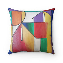 Load image into Gallery viewer, Abstract House Spun Polyester Square Pillow
