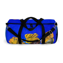 Load image into Gallery viewer, Blue and Gold Sisterhood Duffel Bag