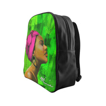 Load image into Gallery viewer, aka sorority,  aka back pack, pink and green bag, pink and green backpack, sorority