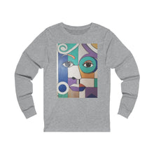 Load image into Gallery viewer, Lady Blue Unisex Jersey Long Sleeve Tee