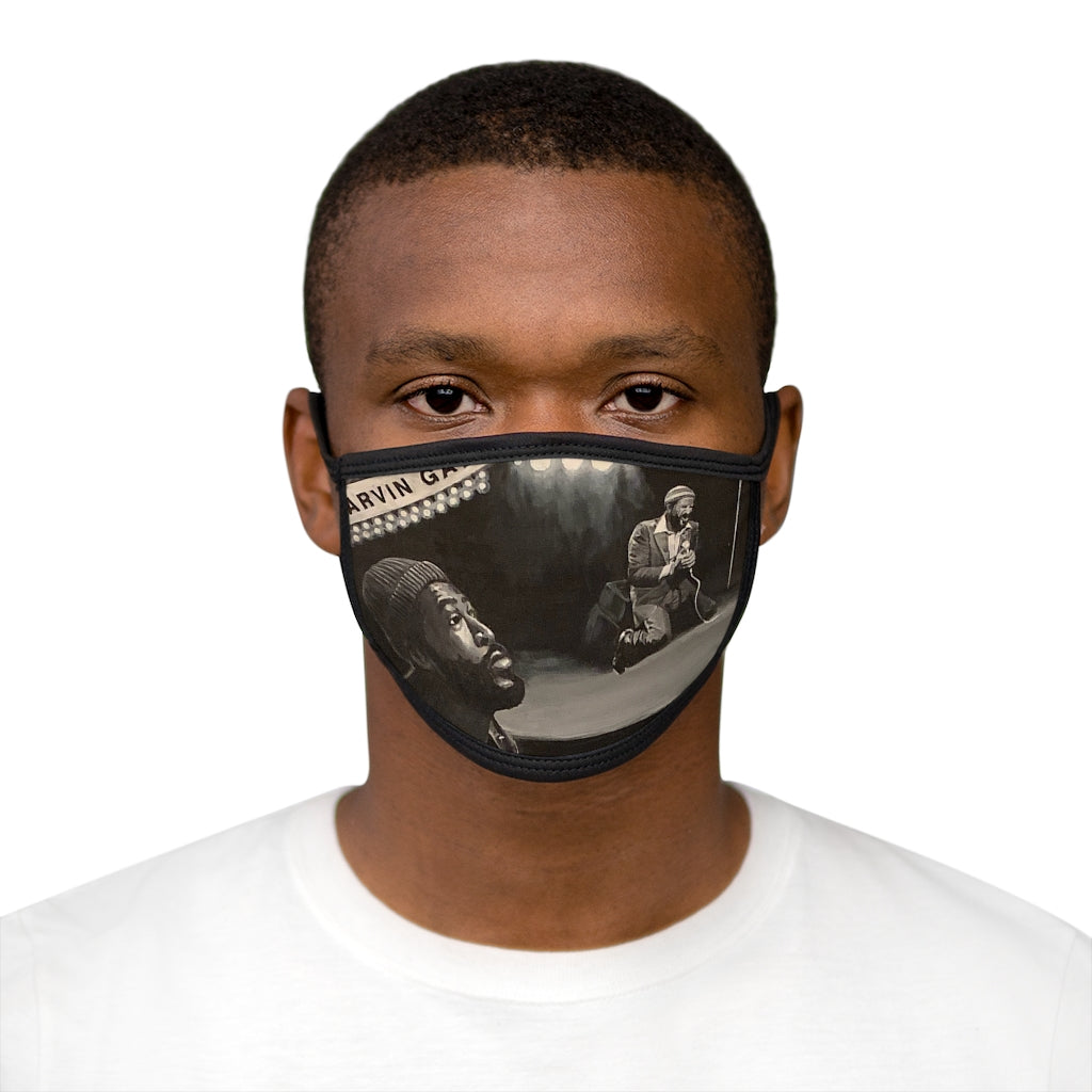 Marvin  Mixed-Fabric Face Mask