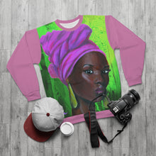 Load image into Gallery viewer, Pink and Green 3 AOP Unisex Sweatshirt
