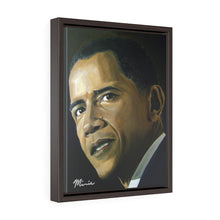 Load image into Gallery viewer, Obama Mr. Presiden Vertical Framed Premium Gallery Wrap Canvas