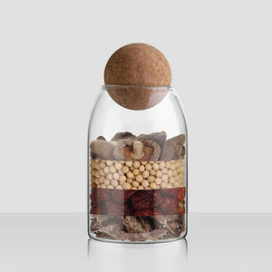 Flösku Glass Jars Set | Cork Lid - LightStyl